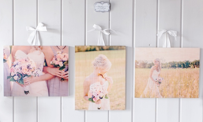 PhotoBarn: One or Three Custom Wood Photo Prints from PhotoBarn (Up to 88% Off). Three Sizes Available.