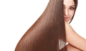 The Salon at Westchester, Inc.: One or Two Organic Thickening or Straightening Treatments at The Salon at Westchester, Inc. (Up to 76% Off)