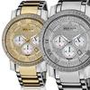 Akribos Men's Swiss Genuine-Diamond Bracelet Watch
