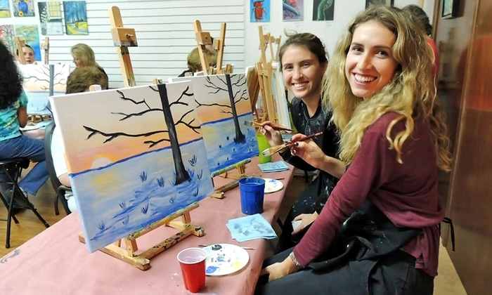 Victorios Art Studio - Victoria Park: Three-Hour BYOB Painting Party for One or Two at Victorios Art Studio (Up to 39% Off)