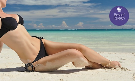 One or Three Spray Tans or a Five-Visit Tanning Package at Sun Tan City (Up to 80% Off)