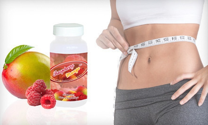 Raspberry Mango Weight-Loss Supplements: 30-, 60-, or 90-Day Supply of Raspberry Ketone and African Mango Weight-Loss Supplements (Up to 68% Off). Free Shipping.