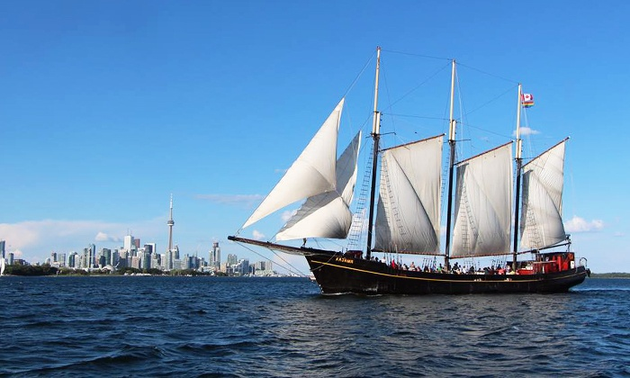 """Great Lakes Schooner Company - Downtown Toronto: $18 for a Sail on the Tall Ship """"Kajama"""" for One from Great Lakes Schooner Company (Up to $27.06 Value)"""