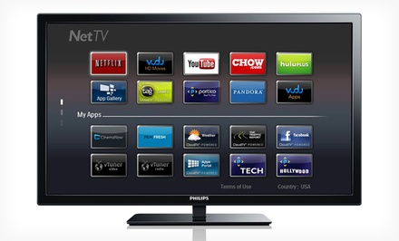 "groupon daily deal - Philips 39"" Wireless Smart 1080p LED HDTV. Free Returns."