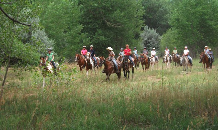 Chatfield Stables - Littleton: 60- or 90-Minute Trail Ride for Two or Four at Chatfield Stables (Up to 52% Off)