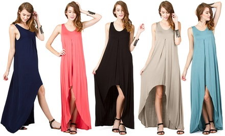 Lyss Loo Sleeveless Hi-Low Maxi Dress