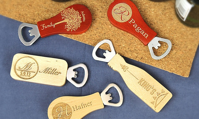 Monogram Online: $5 for a Personalized Magnet Bottle Opener from Monogram Online ($18.99 Value)