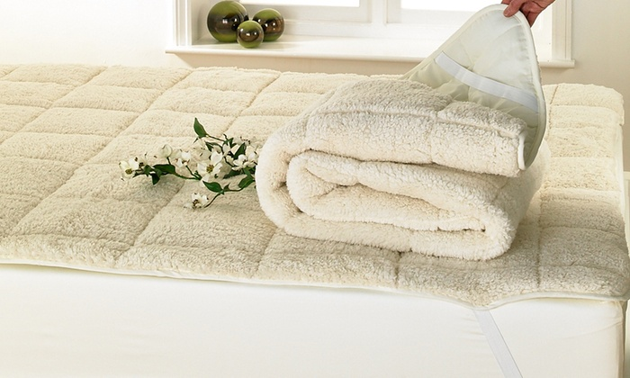 All Seasons Teddy Bear Sherpa Fleece Reversible Mattress Topper Enhanced with Elasticated Corners from £14.99