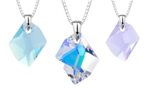 Cosmic Pendant With Swarovski Elements Crystal In Sterling Silver