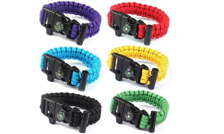 Survival Bracelet with Compass and Whistle
