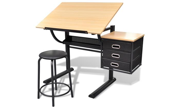 jusqu 39 9 table dessin inclinable groupon. Black Bedroom Furniture Sets. Home Design Ideas