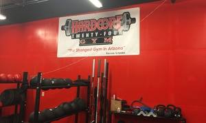 Hardcore 24 Gym: One-Month Membership with a Personal-Training Session at Hardcore 24 Gym (38% Off)