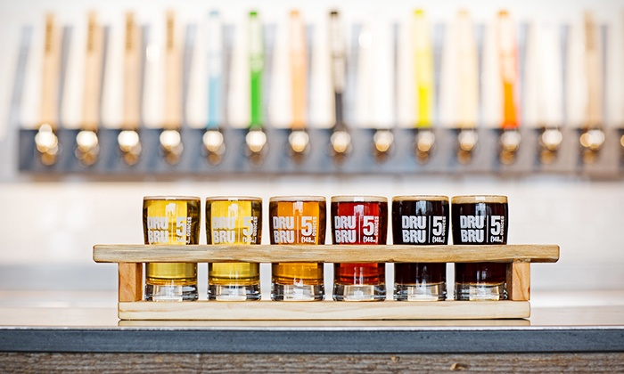 Dru Bru - Tap Room & Brewery - Snoqualmie Pass: $19.99 for Two Beer Tastings and Two Growlers with Fills at Dru Bru ($42 Value)