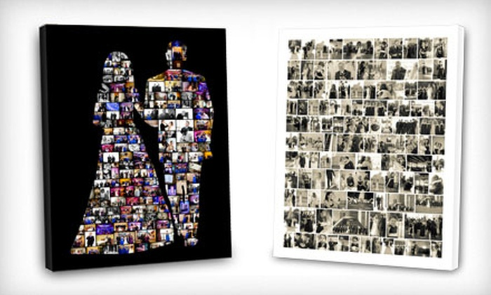 "ScrapWalls Customizable Collage Canvas: $45 for a 16""x20"" Customizable Collage Canvas ($105.97 Value). Shipping Included."
