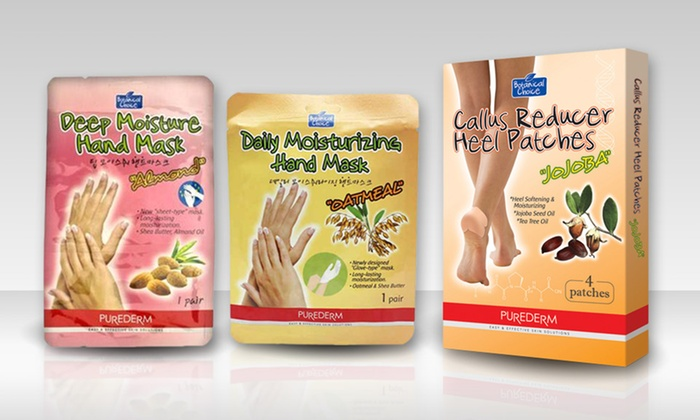 PureDerm Hand Masks and Heel Patches: PureDerm Hand Masks and Heel Patches (Up to 64% Off). Multiple Options Available.