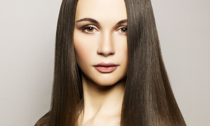 Olga Beauty Salon - Palm Plaza: Keratin Treatment, Keratin and Cut, Brazilian Blowout, or Brazilian Blowout and Cut at Olga Beauty Salon (Up to 58% Off)