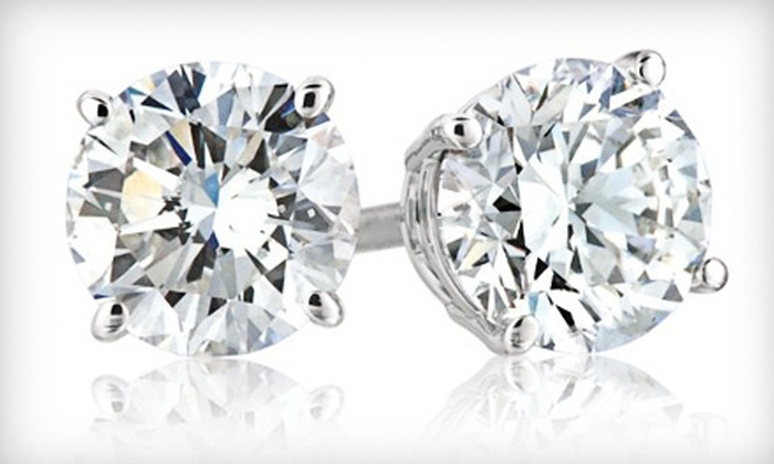 Monique of Switzerland Jewelers - Plymouth - Wayzata: 1/4-, 1/3-, or 1/2-Carat Diamond Stud Earrings at Monique of Switzerland Jewelers (Up to 53% Off)