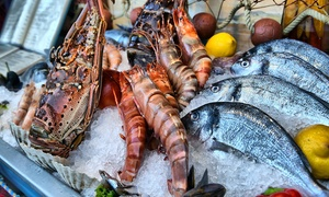 The Market Place at Marriott Hotel Al Jaddaf: Thursday Seafood Buffet with Drinks for One or Two at The Market Place at Marriott Hotel Al Jaddaf (Up to 43% Off)