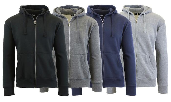 Up To 75% Off on Javino Men's Fleece Zip Hoodie | Groupon Goods