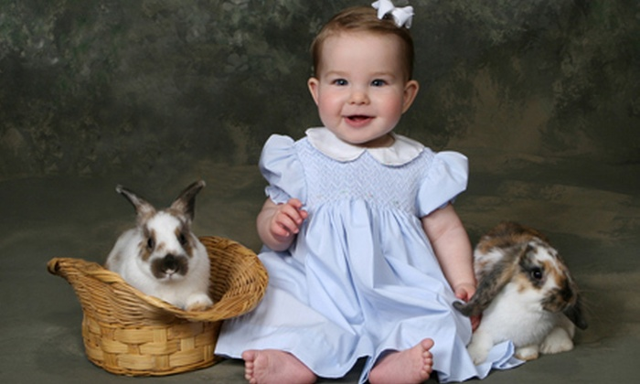 "Richard's Photography - Tallahassee: $39 for a One-Hour Kids' Easter Photo Shoot with Live Rabbits and One 8""x10"" Print at Richard's Photography ($145 Value)"