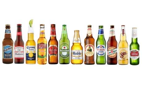 Assortiment de 12 ou 24 bières du monde, livraison offerte