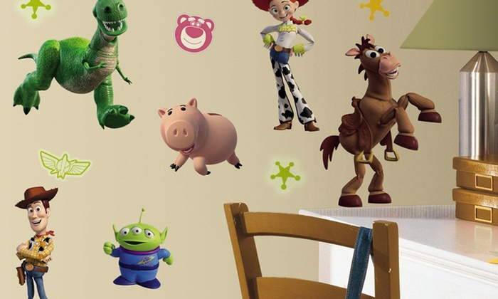 Toy Story Wall Decals: Toy Story 3 Glow-In-the-Dark Wall Decals or Customizable Toy Story Buzz Wall Decals