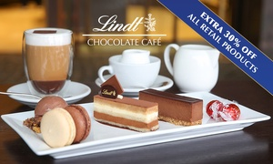 Lindt Chocolate Cafe: Lindt Chocolate Sharing Platter with Hot Drinks for Two People for $19.99 - Choice of 6 Locations (Up to $49.80 Value)