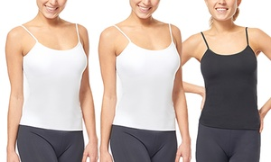 Under Control Women's Adjustable Strap Camisoles (3-Pack)