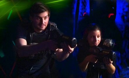 One or Two Hours of Outdoor Laser Tag for Up to 10 People at Lazy T Ranch Adventures (50% Off)
