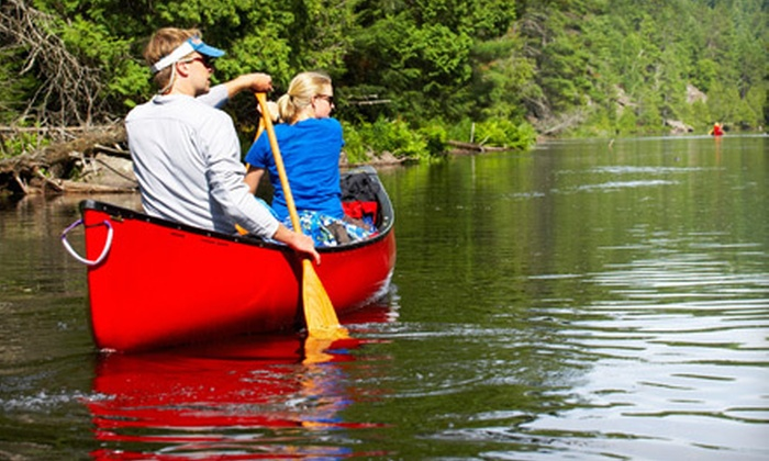 Twin Rivers Canoe Rentals - Eureka: Canoe Rental for Two or Raft Rental for Five from Twin Rivers Canoe Rentals in Eureka (Up to 58% Off)