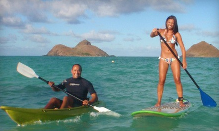 Hawaiian WaterSports - Multiple Locations: $29 for a Full-Day Single-Person Kayak or Standup-Paddleboard Rental from Hawaiian WaterSports (Up to $59 Value)