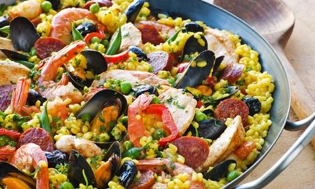 Menú para 2 o 4 con tapas, principal de arroz, postre y bebida o botella de vino desde 24,95 € en Catalonia Restaurant