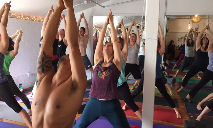 Love Hive Yoga - Kerns: Two Weeks of Unlimited Yoga Classes at Love Hive Yoga (71% Off)