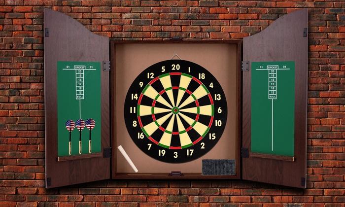 Dartboard Cabinet Set ...