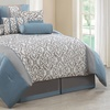 Vertical Pattern Comforter and Sheets Set (11-Piece)