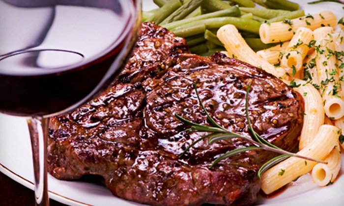 Talia's Steakhouse & Bar - Upper West Side: $75 for Three-Course Prix-Fixe Dinner with a Bottle of Wine for Two at Talia's Steakhouse & Bar (Up to $168 Value)