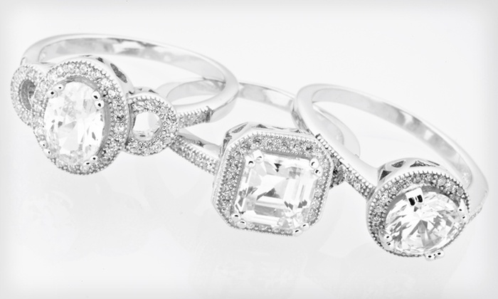 Diamante Cubic Zirconia Jewelry: Diamante Cubic Zirconia and Sterling Silver Jewelry (Up to 87% Off). 18 Options Available. Free Shipping and Returns.