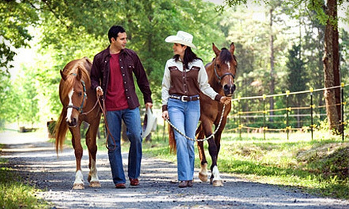 Rancho La Rosa - Alvarado: 1.5-Hour Guided Horseback Trail Ride for Two or Four at Rancho La Rosa (Up to 57% Off)