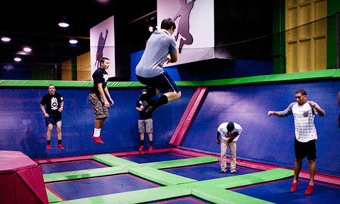 SkyTown Trampoline Park - Redlands: Weekend Birthday Party with Jump Time, Pizza, and Soda for 10 or 20 Kids at SkyTown Trampoline Park (Up to 51% Off)