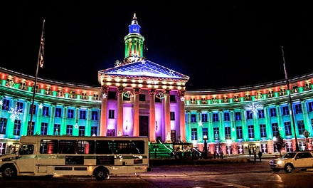 Downtown Denver Early All-Ages or Late Night BYOB Holiday Lights Tour with DWS Coach (Up to 53% Off)
