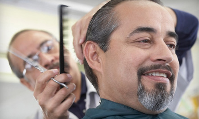 Real Barber Shop - Sky Lake: One or Three Men's Haircut Packages with Edging and a Straight-Razor Shave at Real Barber Shop (Up to 53% Off)