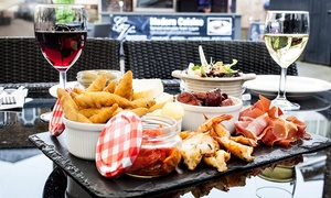 The George Vaults: Sharing Platter with Wine for Two or Four at The George Vaults (Up to 44% Off)