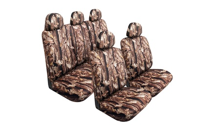 9-Piece Camouflage Neoprene Car-Seat Cover Kit