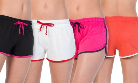 Women's Lounge Shorts in Assorted Colors (4-Pack)