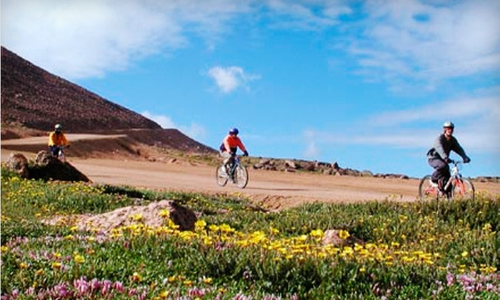 Challenge Unlimited - Pikes Peak by Bike - Old Colorado City: Morning Bike Tour for One or Two with Equipment and Meals from Challenge Unlimited - Pikes Peak by Bike (Up to 52% Off)