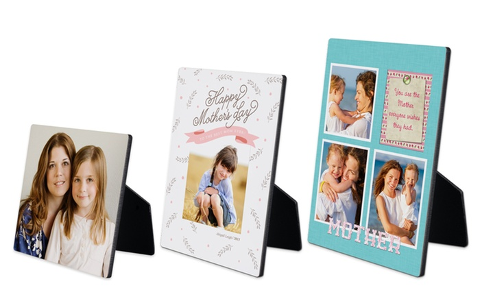 """York Photo: One 5""""x5"""", 5""""x7"""", or 8""""x10"""" Custom Photo Easel Panel from York Photo (Up to 62% Off)"""