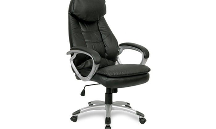 Sedie Da Ufficio In Pelle : Sedia da ufficio in vera pelle groupon goods
