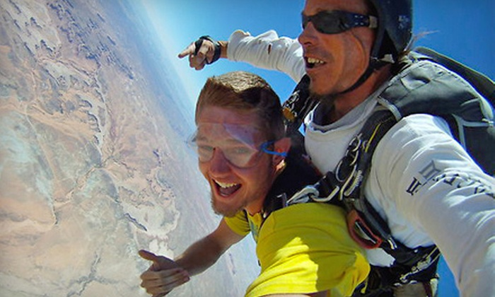 Skydive Moab - Moab: $299 for a Tandem Skydive Jump for Two from Skydive Moab (Up to $450 Value)