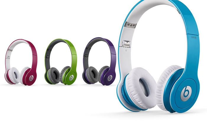 casque beats by dr dre solo hd groupon. Black Bedroom Furniture Sets. Home Design Ideas