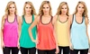 3-Pack of Women's Lace Racerback Tanks